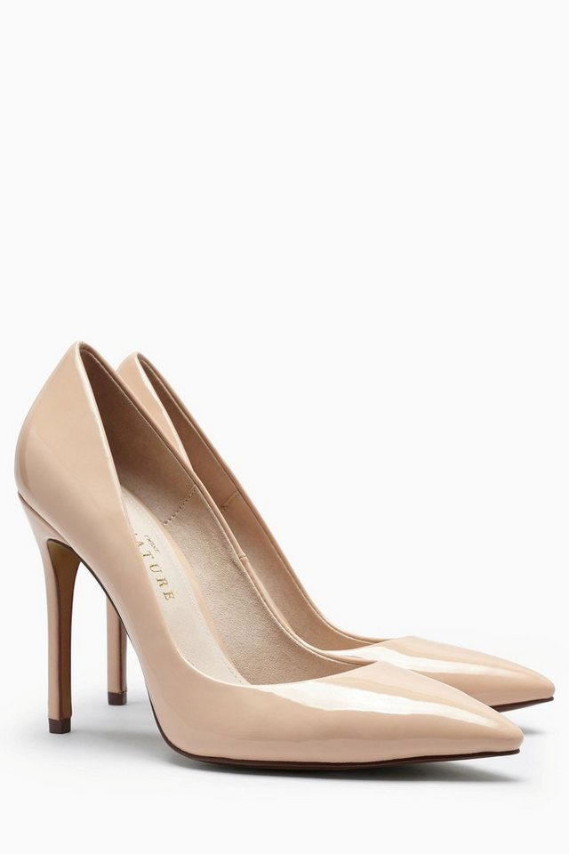 Next Pumps mit spitzer Zehenpartie in Nude