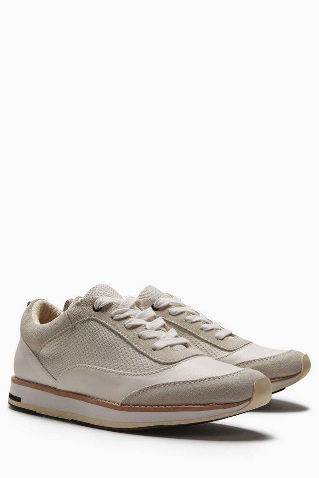 Next Premium-Sneaker aus Leder in Weiß