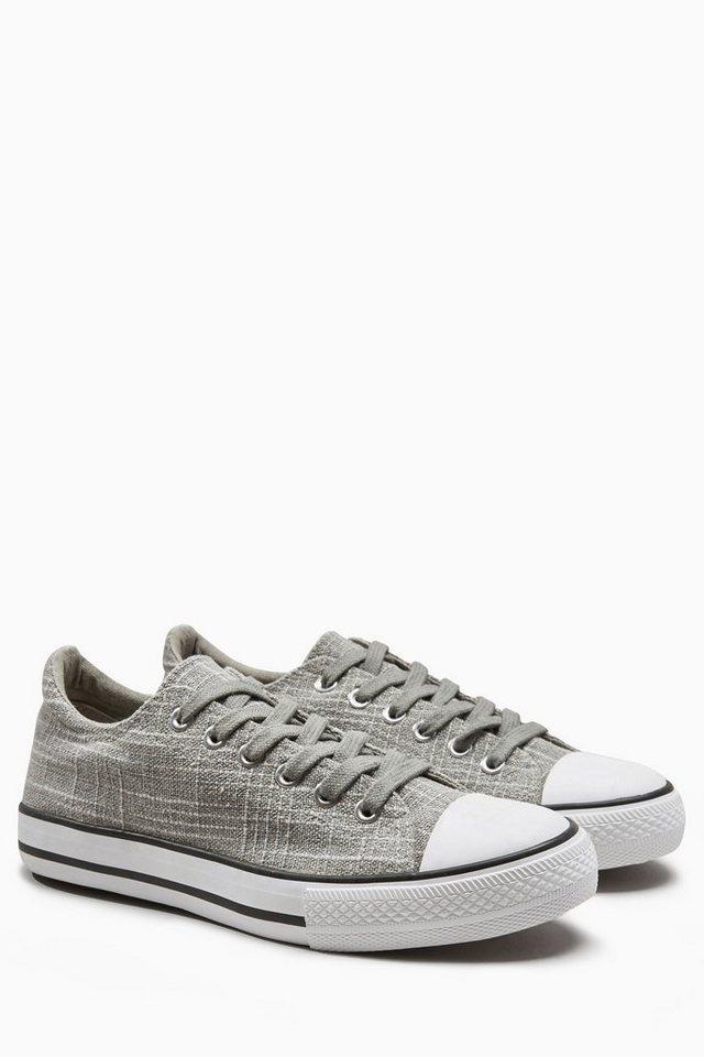 Next Sneaker aus Leinen in Grau