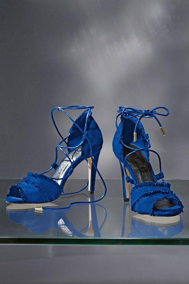 Next Sandalette aus Leder mit Schnürung in Blau