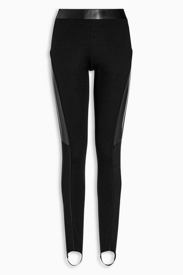 Next Ponte-di-Roma-Leggings mit Steg in Schwarz