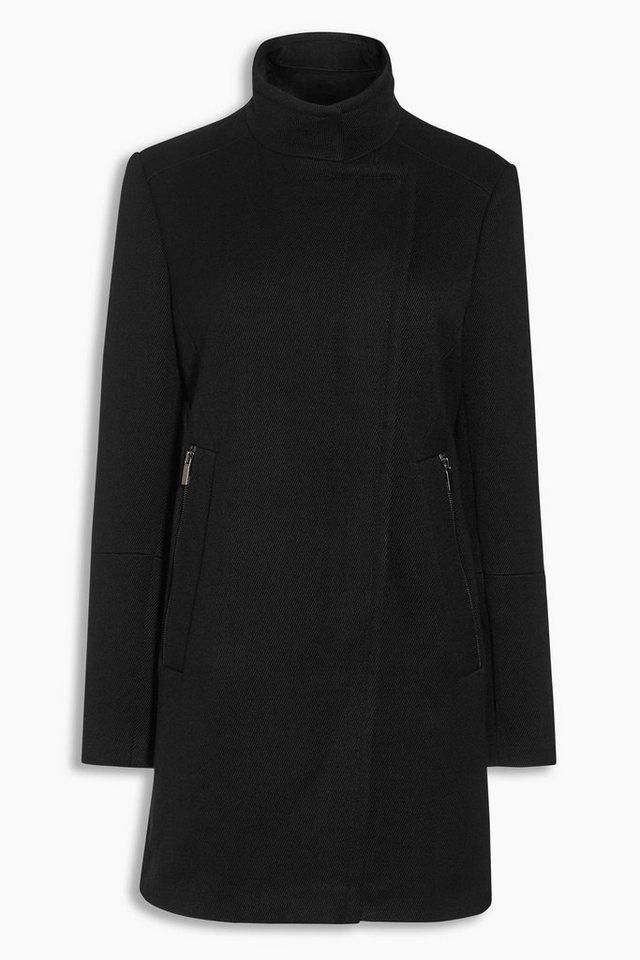 Next Mantel mit Reißverschlusstasche in Schwarz