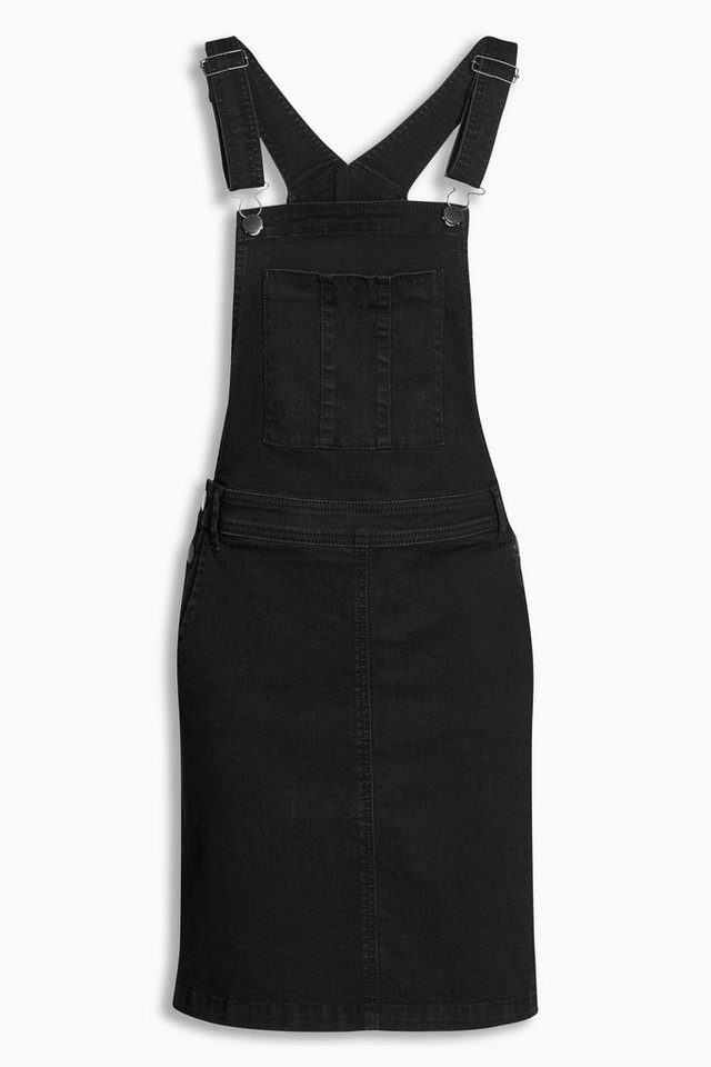 Next Trägerkleid aus Denim in Schwarz