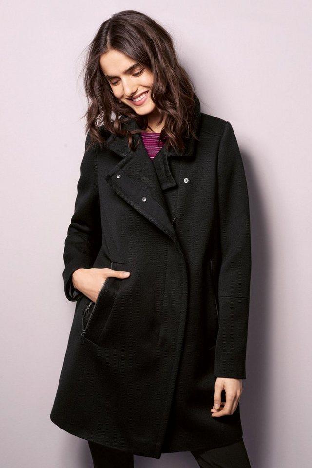 Next Mantel mit Reißverschluss in Black