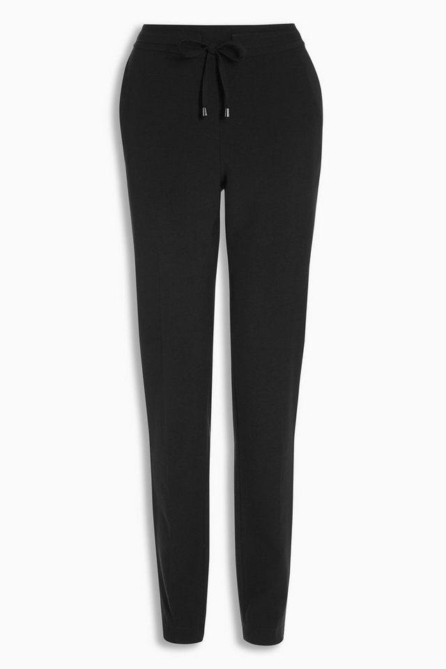 Next Business-Hose mit schmal zulaufendem Bein in Schwarz