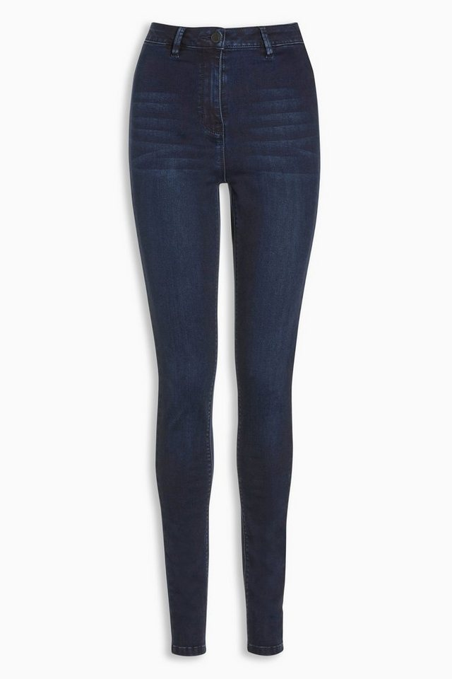 Next Superskinny-Jeans mit hoher Taille in Dunkelblau