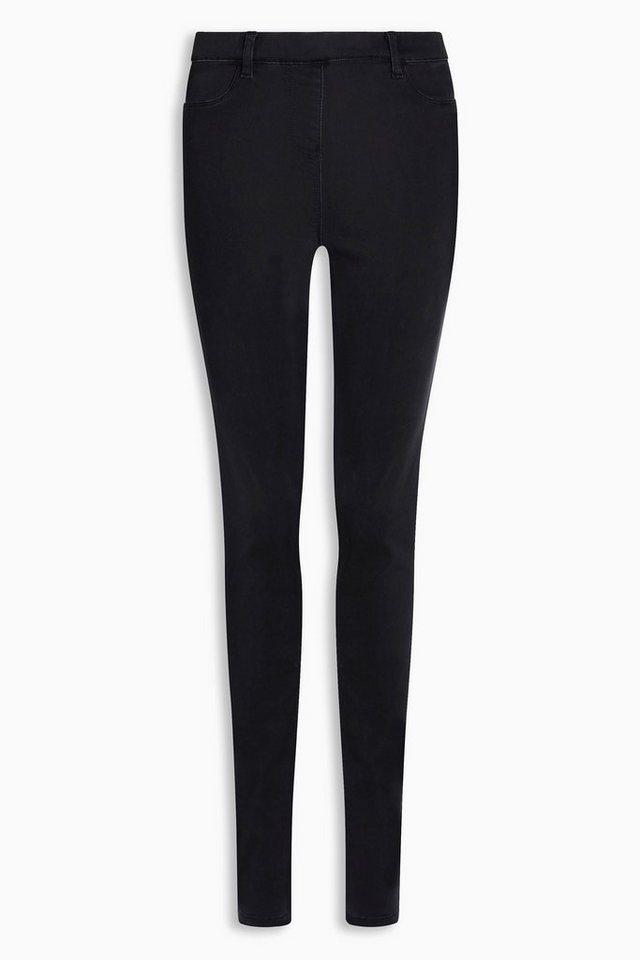 Next Denim-Leggings in Black