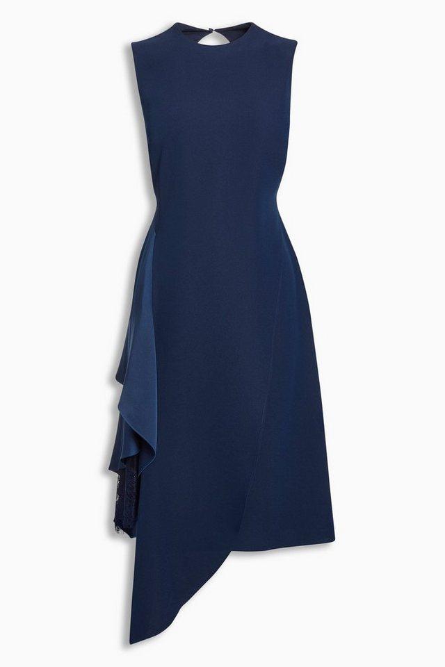 Next Kleid mit seitlichen Raffdetails in Blau