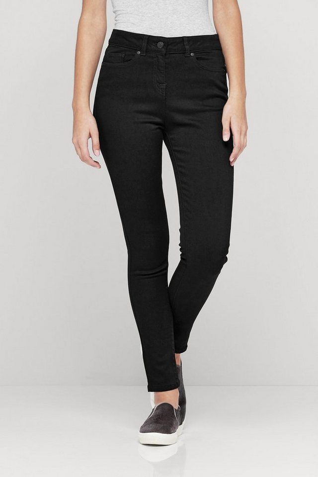 Next Premium Skinny-Jeans aus Modal in Black