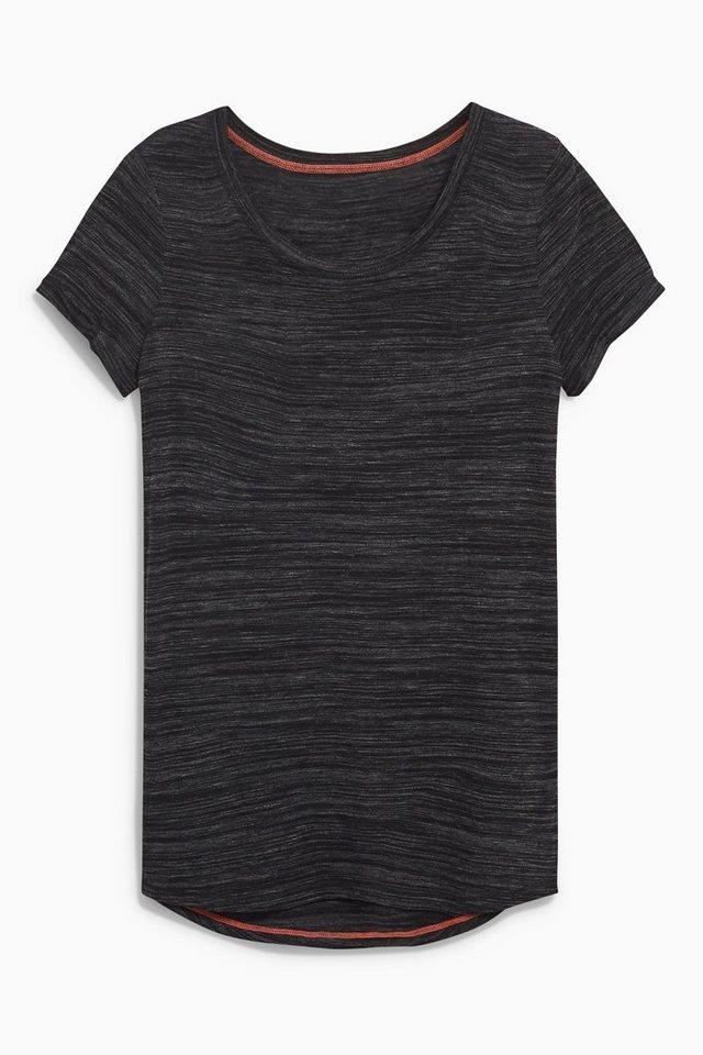 Next Fitness-T-Shirt in Schwarz