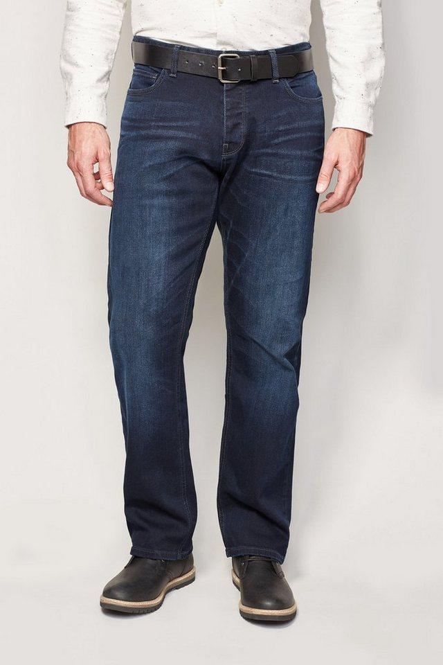 Next Loose-Fit Ink Blue Stretch-Jeans mit Gürtel 2 teilig in Blau Loose-Fit