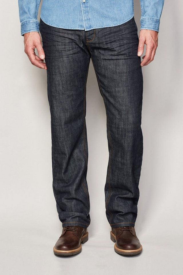 Next Straight-Fit Raw Denim Jeans in Blau Straight-Fit