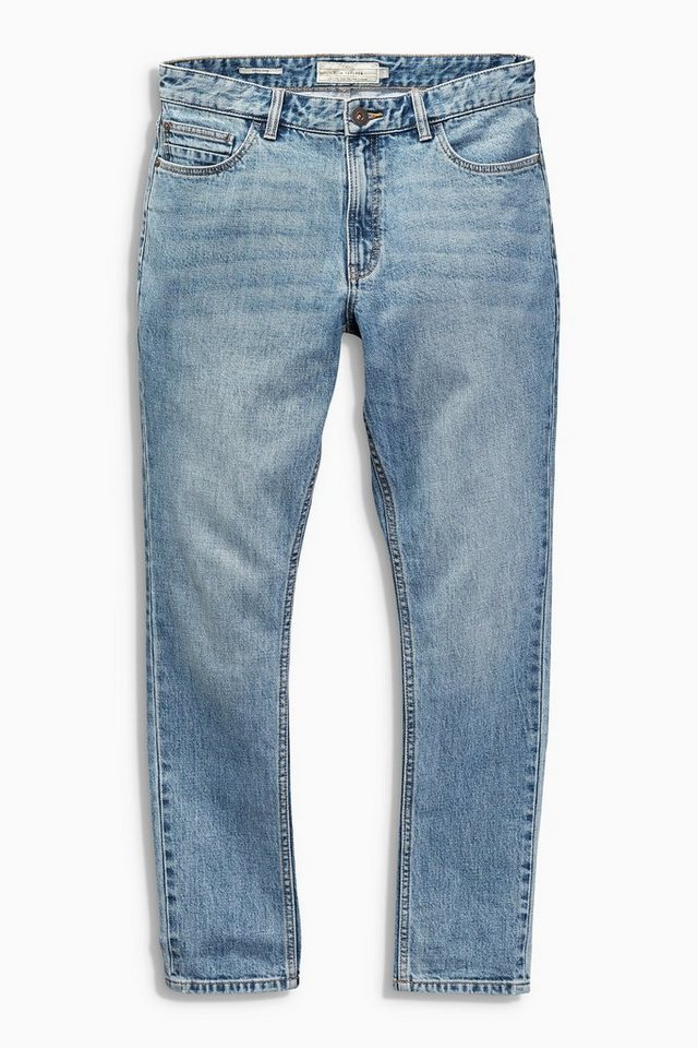 Next Tapered-Fit Bright Blue Stretch-Jeans in Blau Tapered-Fit