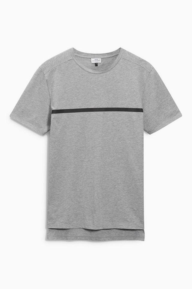 Next T-Shirt mit Bruststreifen in Grau
