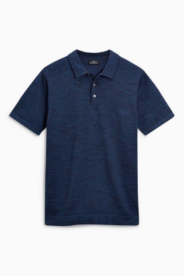 Next Kurzarm-Poloshirt in Blau