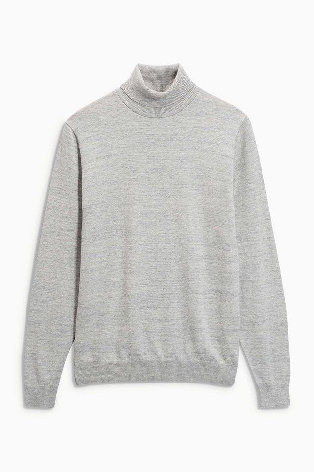 Next Pullover mit Rollkragen in White Marl
