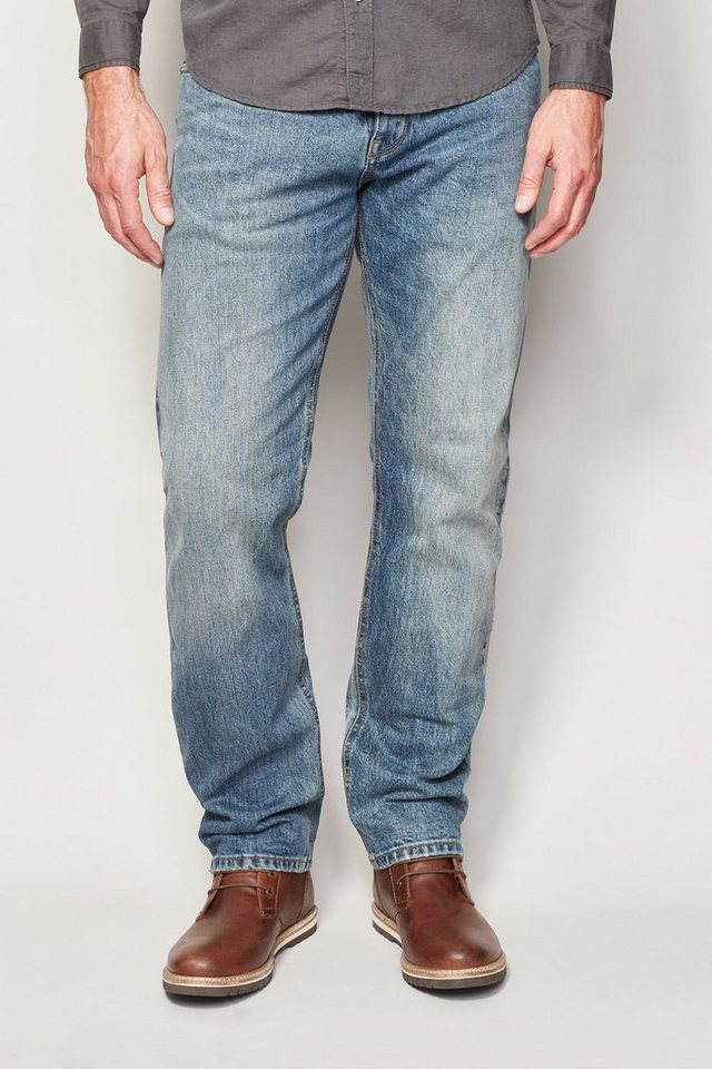 Next Straight-Fit Bleach Wash Stretch-Jeans in Blau Straight-Fit