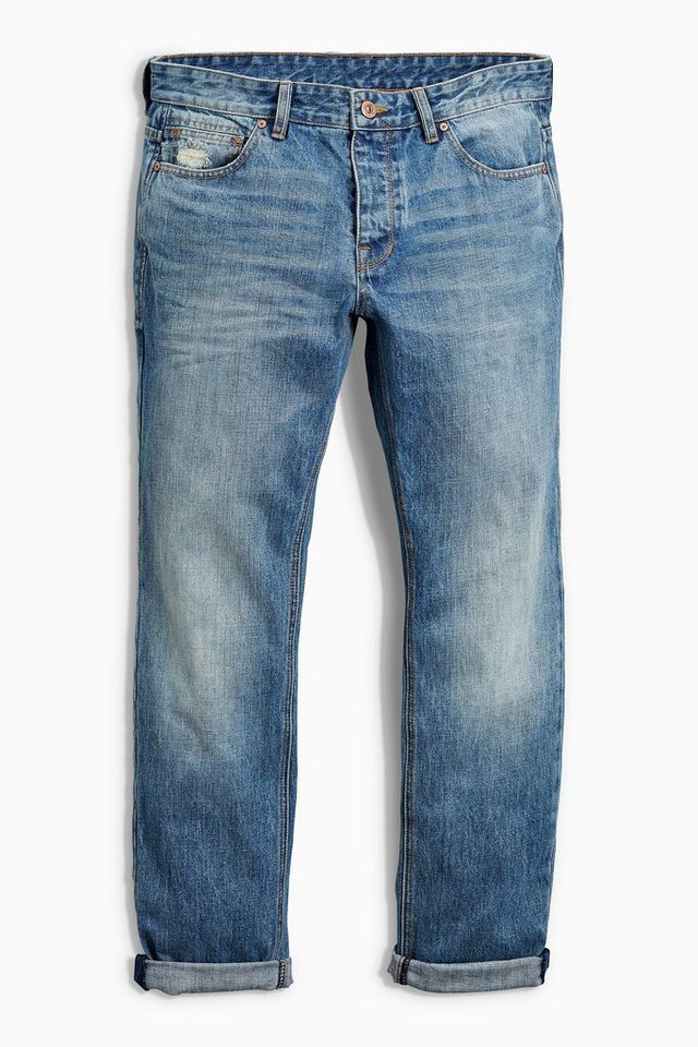 Next Slim-Fit Light Wash Jeans in Blau Slim-Fit