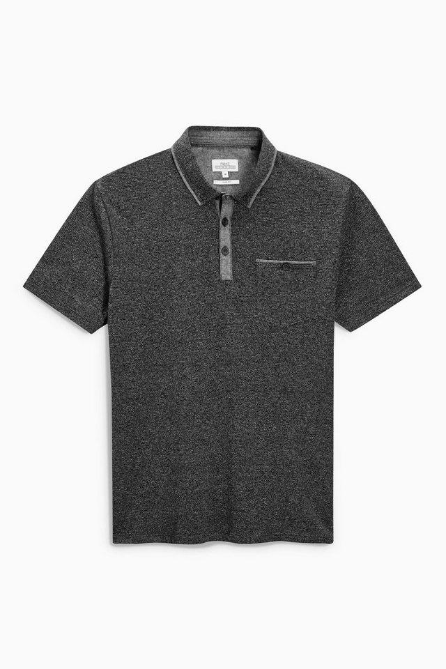 Next Poloshirt aus Chambray mit angesetztem Kragen in Grau