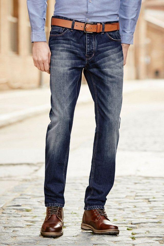 Next Loose-Fit Vintage Blue Jeans mit Gürtel 2 teilig in Blau Loose-Fit