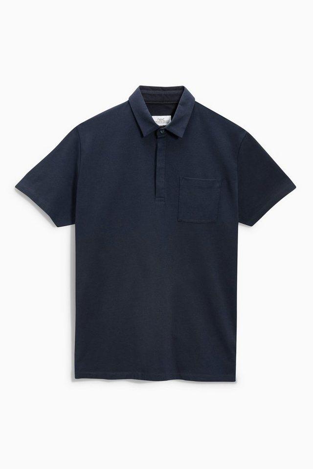 Next Smartes Poloshirt mit Brusttasche in Marine