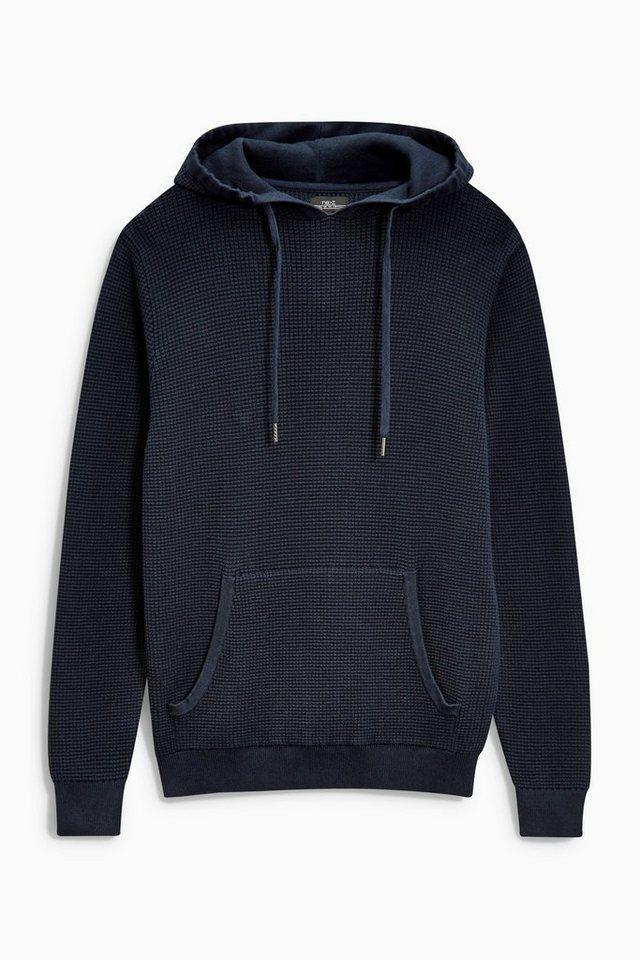 Next Kapuzensweatshirt mit Waffelmuster in Marine