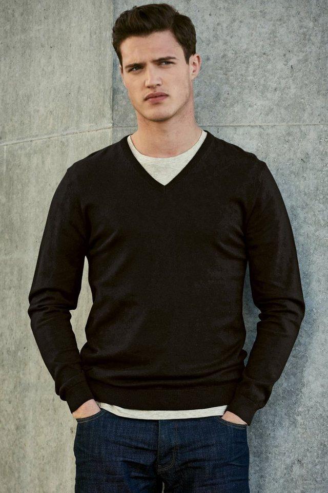 Next Pullover mit V-Ausschnitt in Black