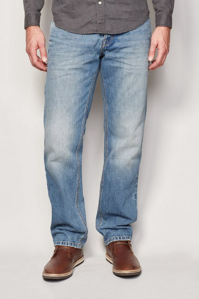Next Straight-Fit Light Wash Jeans in Blau Straight-Fit