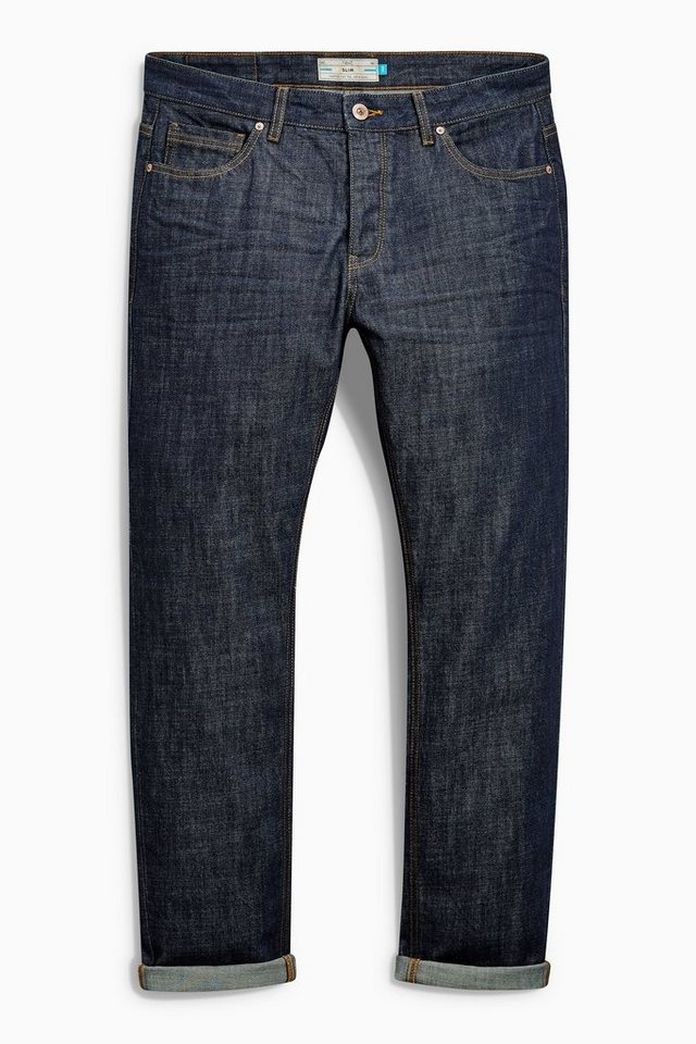 Next Slim-Fit Raw Denim Jeans in Blau Slim-Fit