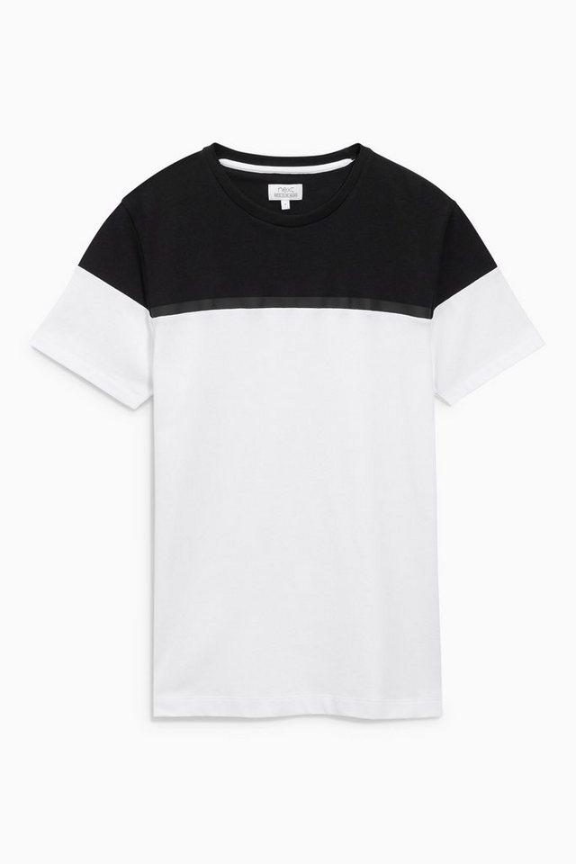 Next T-Shirt in Blockfarben in Black