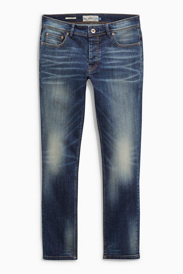 Next Slim-Fit Mid Blue Stretch-Jeans in Blau Slim-Fit