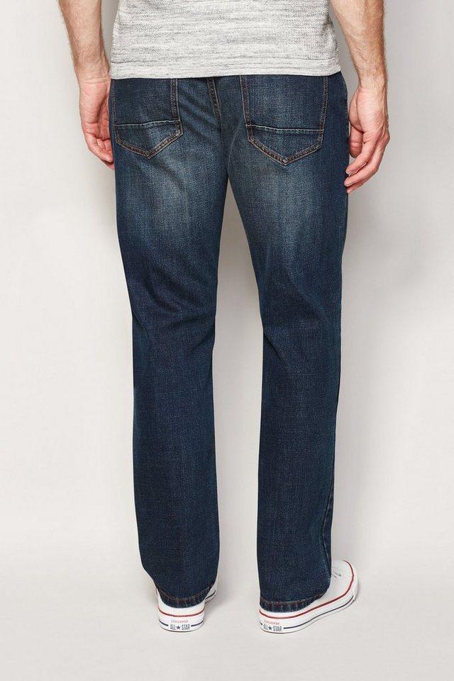 Next Dirty Denim Stretch-Jeans in Blue Straght-Fit