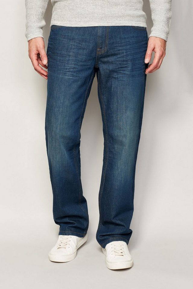 Next Loose-Fit Teal Wash Stretch-Jeans in Blau Loose-Fit