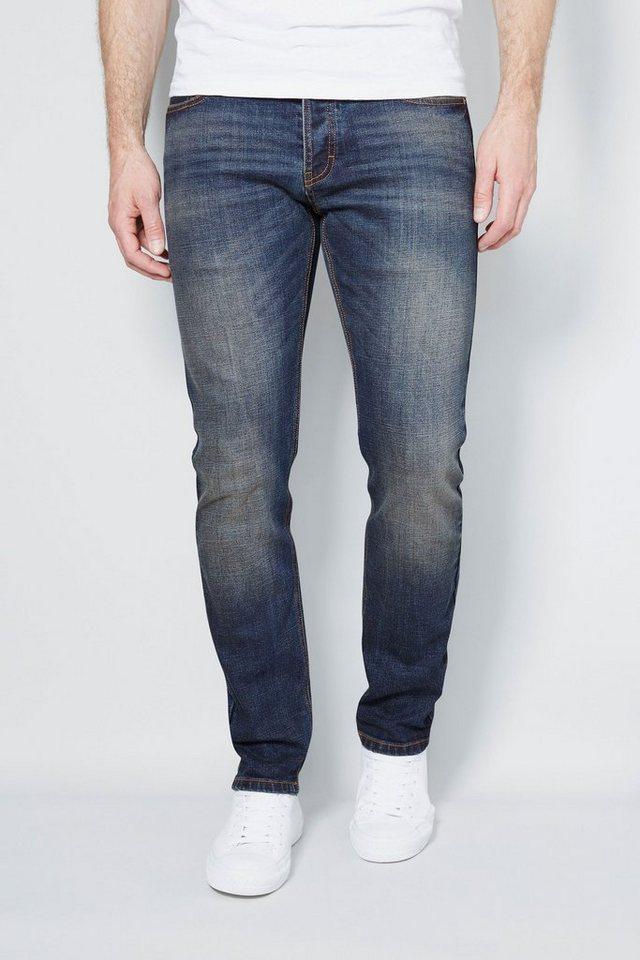 Next Dirty Denim Stretch-Jeans in Blue Slim Fit