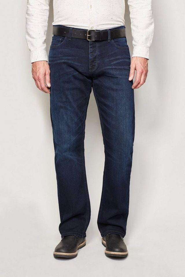 Next Boot-Fit Ink Blue Stretch-Jeans mit Gürtel 2 teilig in Blau Boot-Fit