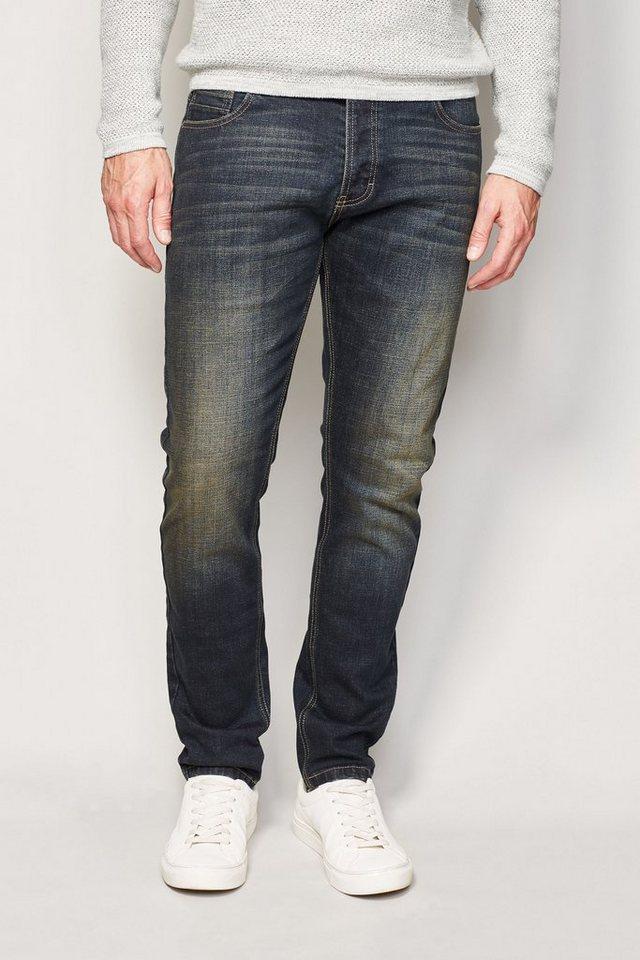 Next Skinny-Fit Dirty Denim Stretch-Jeans in Blau Skinny-Fit