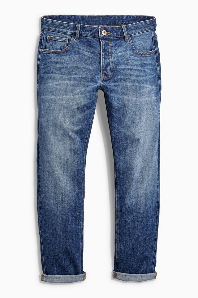 Next Slim-Fit Mid Blue Stretch-Jeans in Blau Slim-Fit