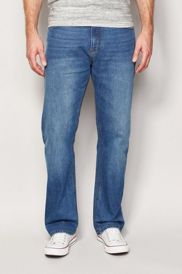 Next Loose-Fit Bright Blue Stretch-Jeans in Blau Loose-Fit