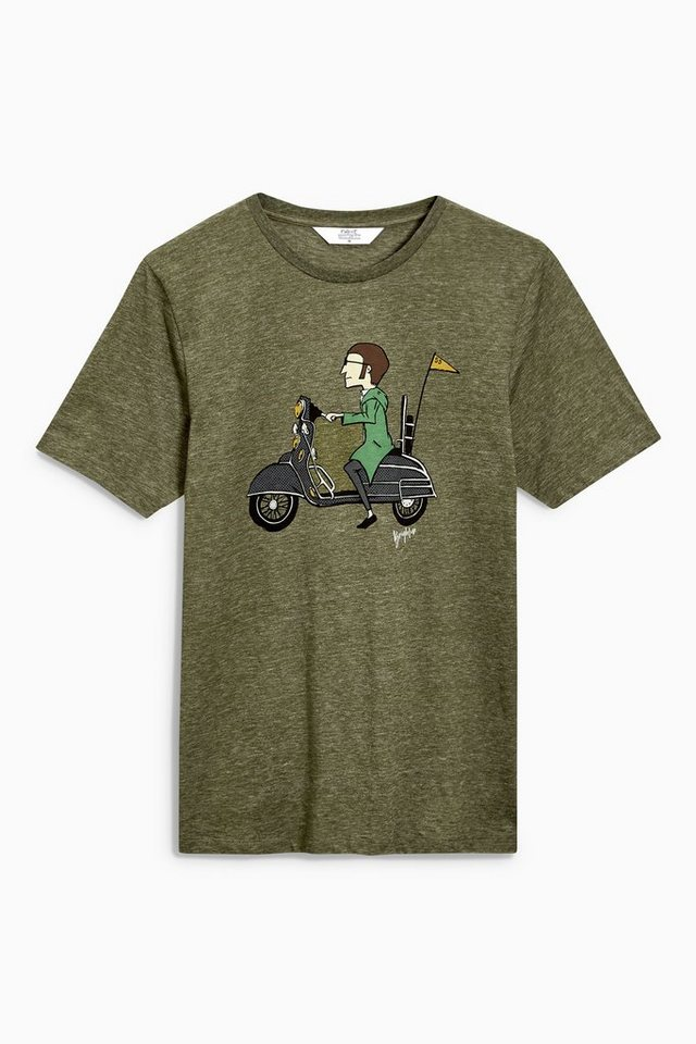 Next T-Shirt mit Grafikprint in Grün