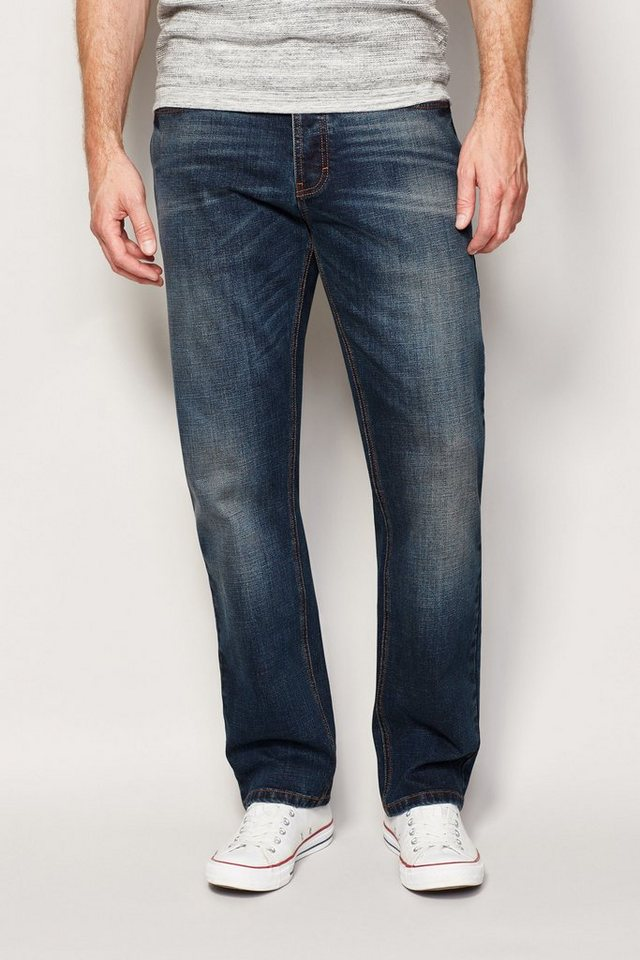 Next Straight-Fit Dirty Denim Stretch-Jeans in Blau Straight-Fit
