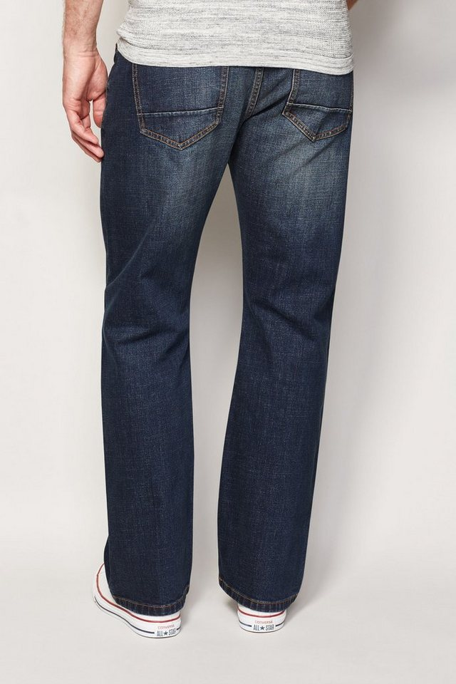 Next Dirty Denim Stretch-Jeans in Blue Boot Fit