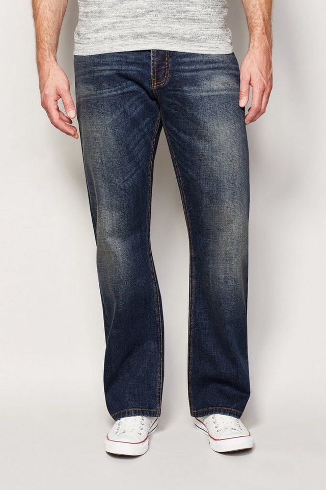 Next Boot-Fit Dirty Denim Stretch-Jeans in Blau Boot-Fit