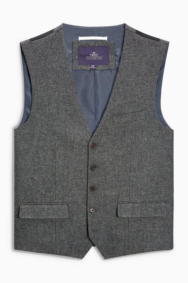 Next Anzugweste aus Twill in Grey