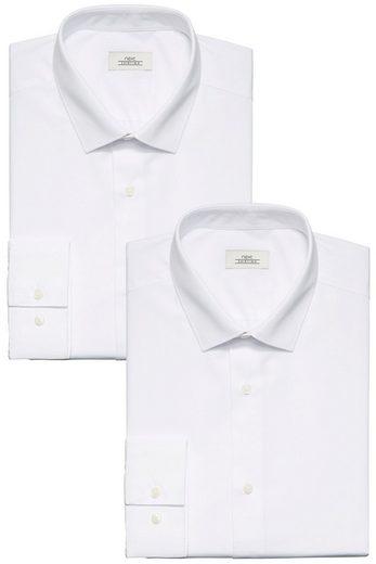 Prochaines Chemises De Couleur Unie, Blanc, Paquet De 2 Pièces
