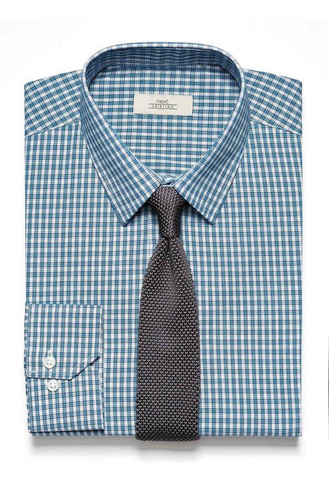 Next Kariertes Hemd und Krawatte im Set 2 teilig in Blau