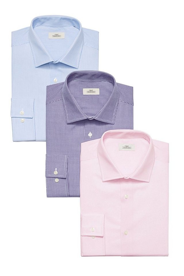 Next Hemden, Pink, Lila & Blau, 3er-Pack 3 teilig in Pink