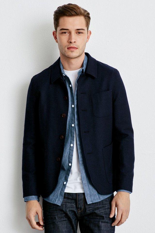 Next Strukturierte Jacke in Blue