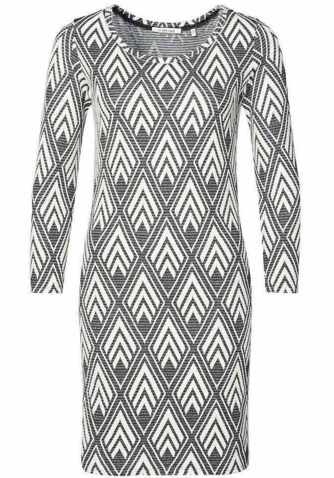 Rich & Royal Jerseykleid in angesagtem Muster mit Glitzerfäden in schwarz-weiß-gemustert