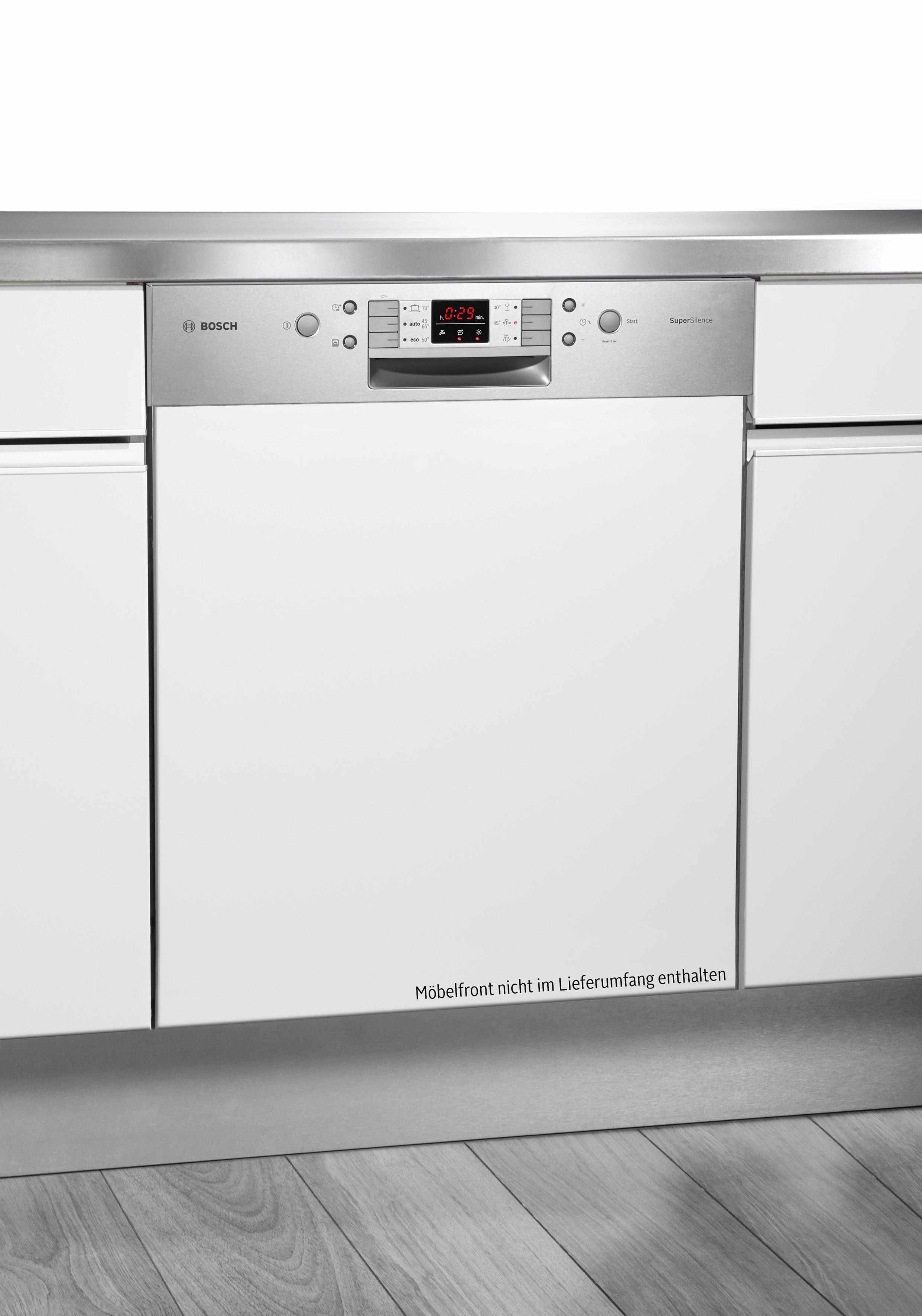 Bosch integrierbarer Einbaugeschirrspüler SMI68N25EU, A++, 9,5 Liter, 14 Maßgedecke