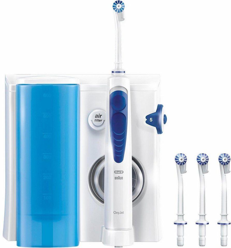 Oral-B Reinigungssystem OxyJet mit Munddusche in weiß/blau